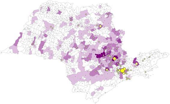 Vendas e população