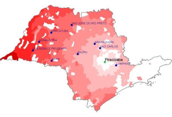 Distâncias rodoviárias no estado de São Paulo