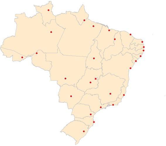 Representação das capitais do Brasil