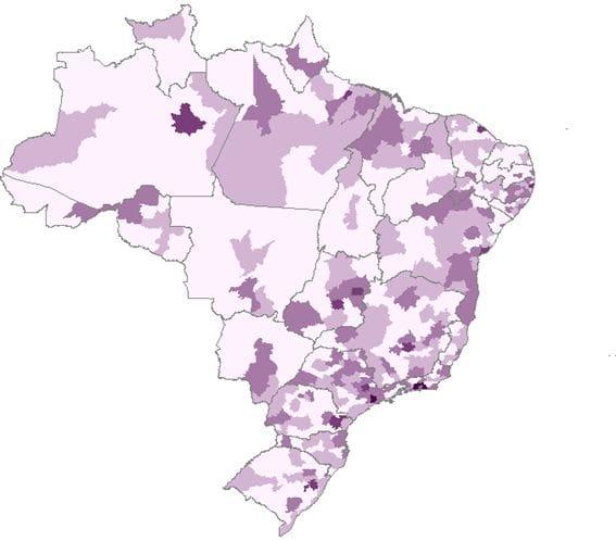 População por microrregião