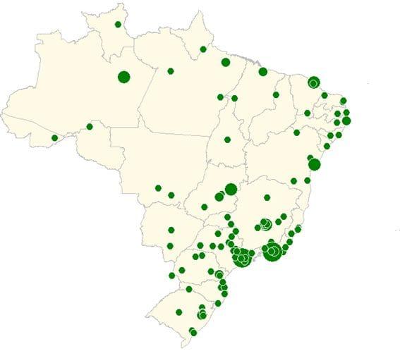Representação pontual da população