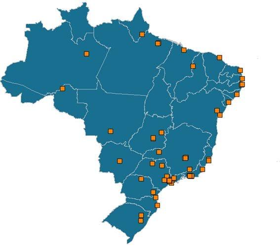 Cidades com mais de 400 mil habitantes