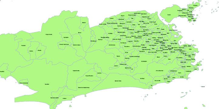 Rio De Janeiro Mapa Bairros.Mapa Dos Bairros Do Rio De Janeiro