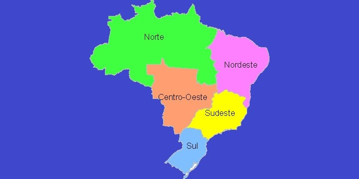 Major Regions Of Brazil Gismaps Systems